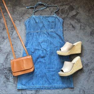 American Eagle Denim Halter Mini Dress